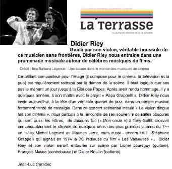 article LA TERRASSE Avignon